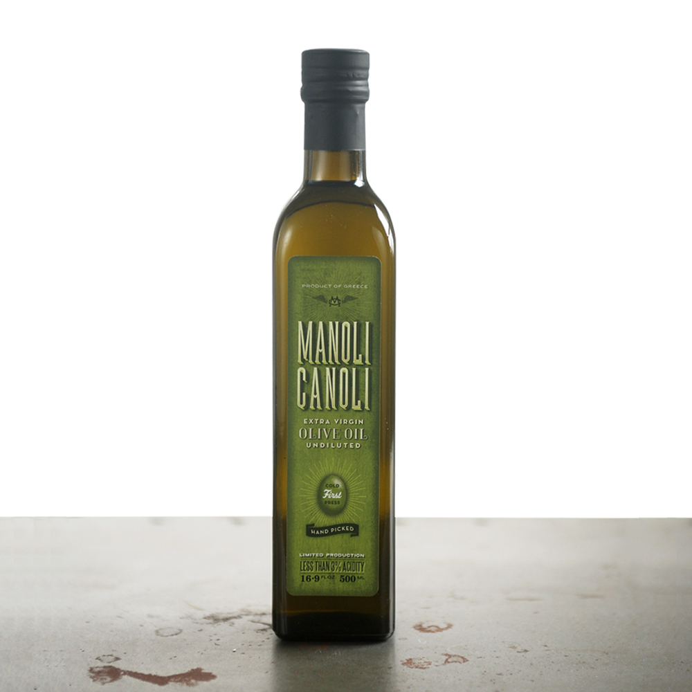 Extra Virgin Olive Oil Bottle 500ml - MANOLI CANOLI