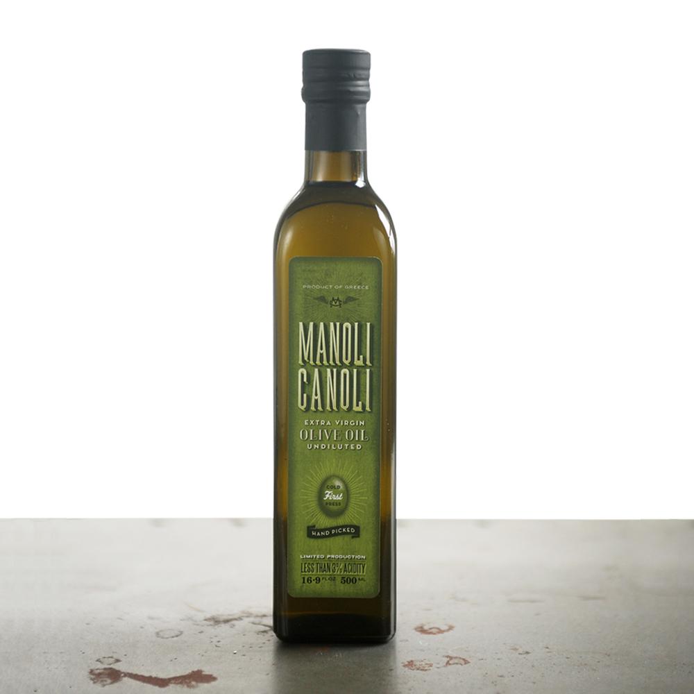 Extra Virgin Olive Oil Bottle 500ml - MANOLI CANOLI